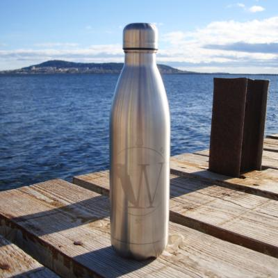 Bouteille inox Maxi Water silver 750 ml isotherme